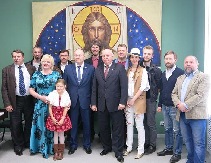 Открытие персональной выставки Петра Стронского в Щёлковской художественной галерее
