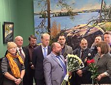 Открытие персональной выставки Александра Беглова в Щелковской художественной галерее
