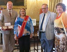 Встреча Заслуженного художника РФ Петра Стронского с Президентом Республики Мальта во дворце Сан-Антон