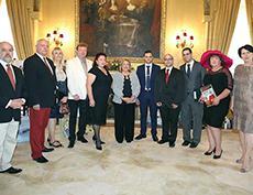Официальный визит делегации Международной академии культуры и искусства во Дворец Сан-Антон по приглашению Президента Республики Мальта