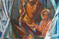 В.Г. Калинин. Праздник иконы Казанской Божьей Матери. 2015, холст, темпера, 170х150
