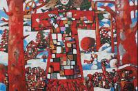 Ю.Н. Попков. Масленица. 2012, холст, масло, 150х150 см