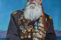 Петр Стронский. Портрет ветерана морской пехоты Широкова Г.А. 2014 год, холст, масло, 100х70 см
