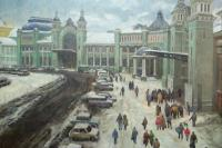 Игорь Раевич. Белорусский вокзал. 2006 год, холст, масло, 200х146 см