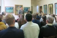 Открытие персональной выставки Петра Стронского в Химкинской картинной галерее