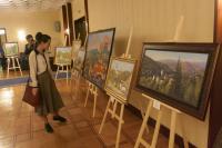"""Открытие выставки """"Словакия в творчестве российских художников"""" в Президент-отеле в Москве"""