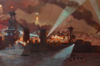 Крейсер Красный Кавказ, х.м., 100х300
