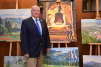 П.Стронский на открытии выставки